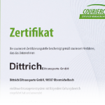 Zertifikat: DIN EN ISO 14001:2009 für Umweltmanagementsystem