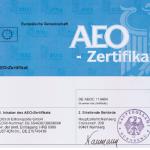 AEO-Zertifikat für Zollrechtliche Vereinfachungen / Sicherheit